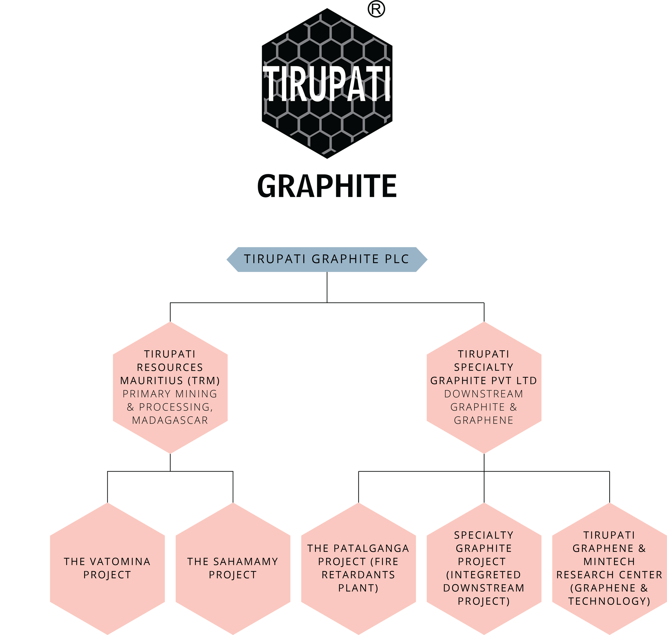 Tirupati Graphite - Corporate structure , Flake Graphite Company